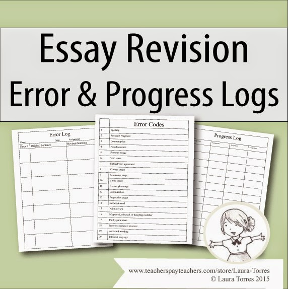 https://www.teacherspayteachers.com/Product/Essay-Revision-Error-and-Progress-Logs-1815517