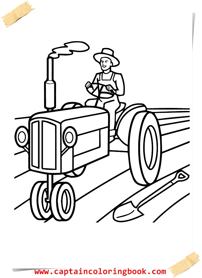 Tractor Coloring Pages printable - Coloring Page