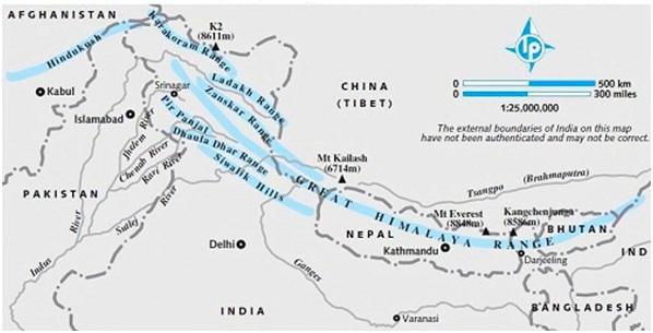 Classification1 - हिमालय पर्वत श्रंखला का विभाजन या वर्गीकरण
