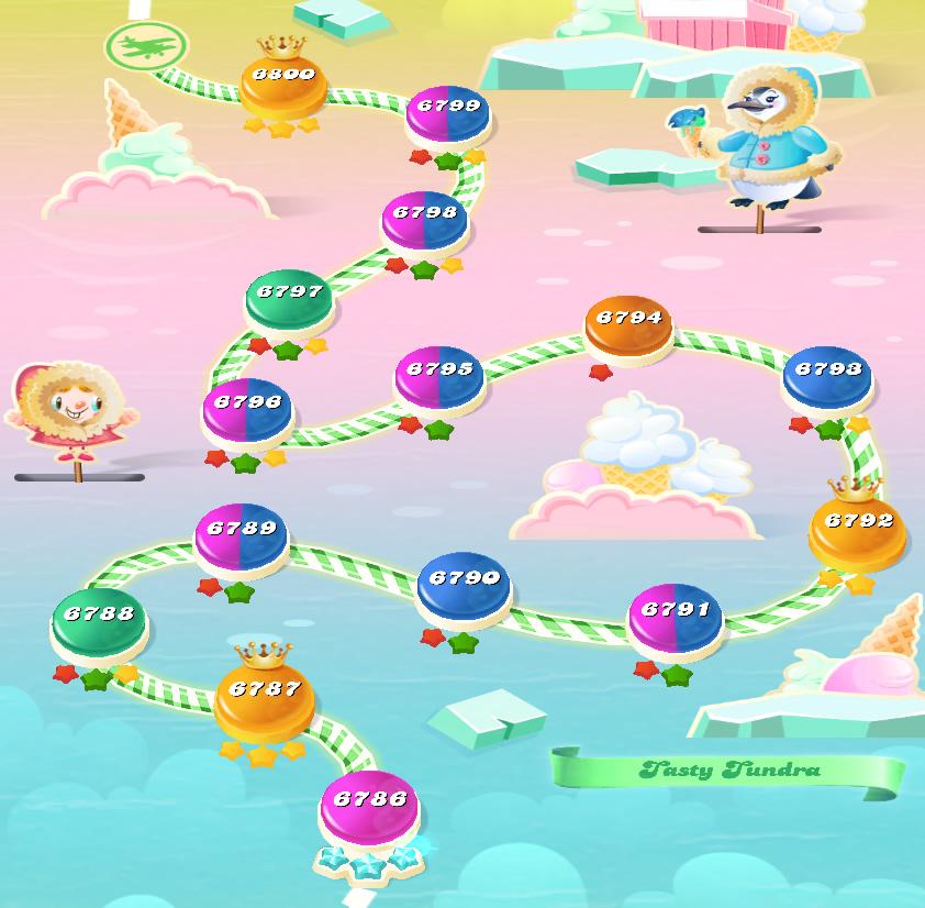 Candy Crush Saga level 6786-6800