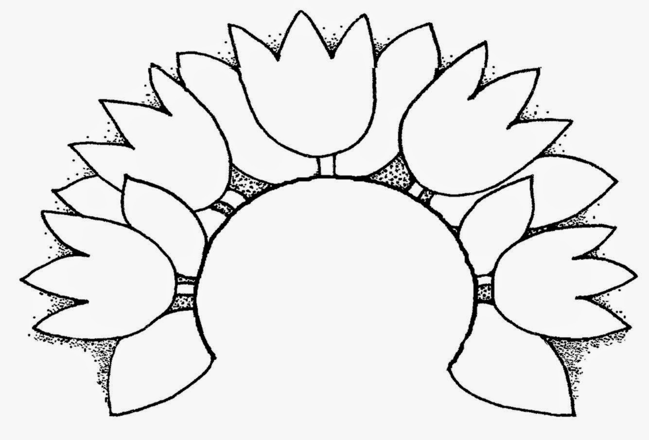 Spring Tulips Clip Art Black And White | Amazing Wallpapers