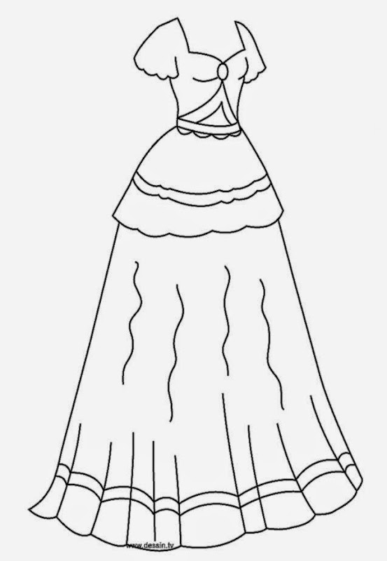 Beautiful Dress Coloring Pages - Colorings.net