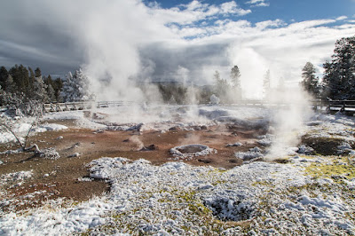 Fountain Pot Thermal Features Yellowstone National Park Geyser