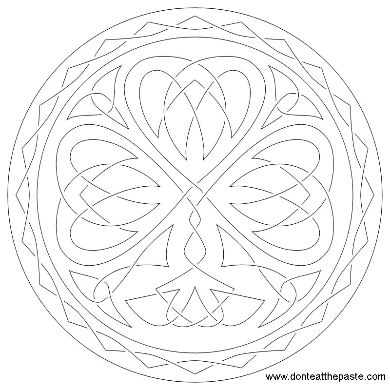 Shamrock Pattern Coloring Page