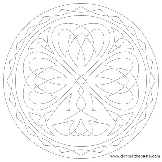 Shamrock embroidery pattern
