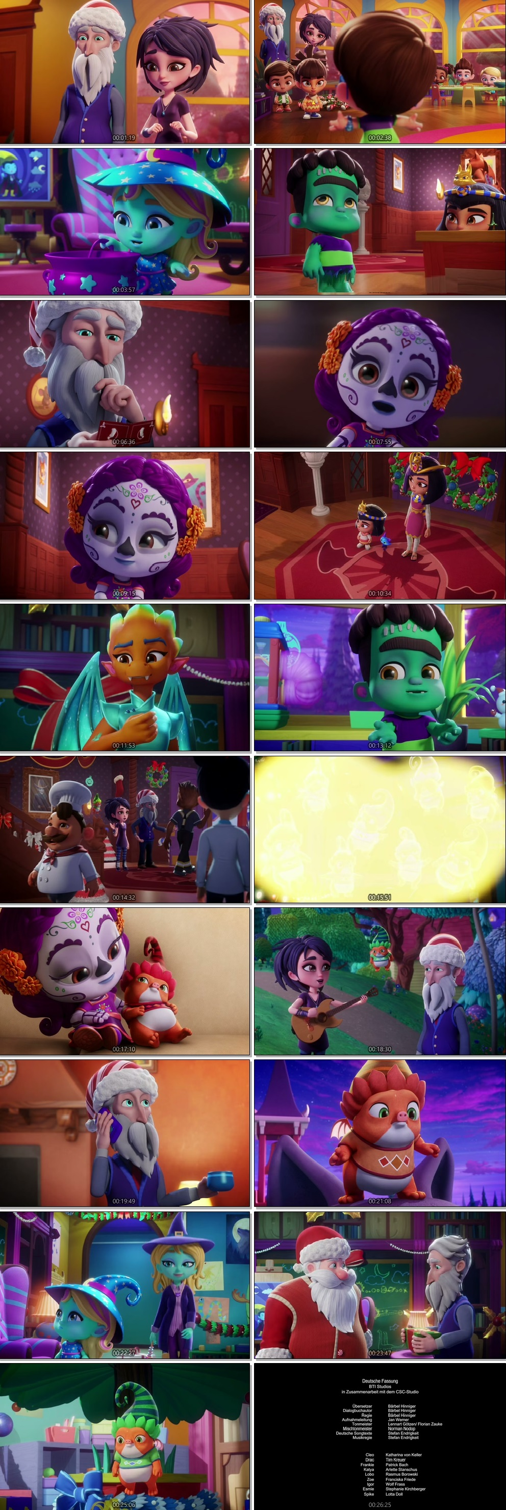 Screen Shot Of Super Monsters and the Wish Star 2018 300MB Full Movie Hindi Dubbed Free Download 720P BRRip HEVC