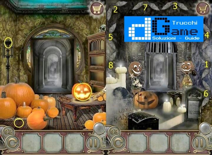 Soluzioni Escape The Mansion Halloween   livello  1  2  3  4  5  6  7  8  9 10 | Trucchi e  Walkthrough level