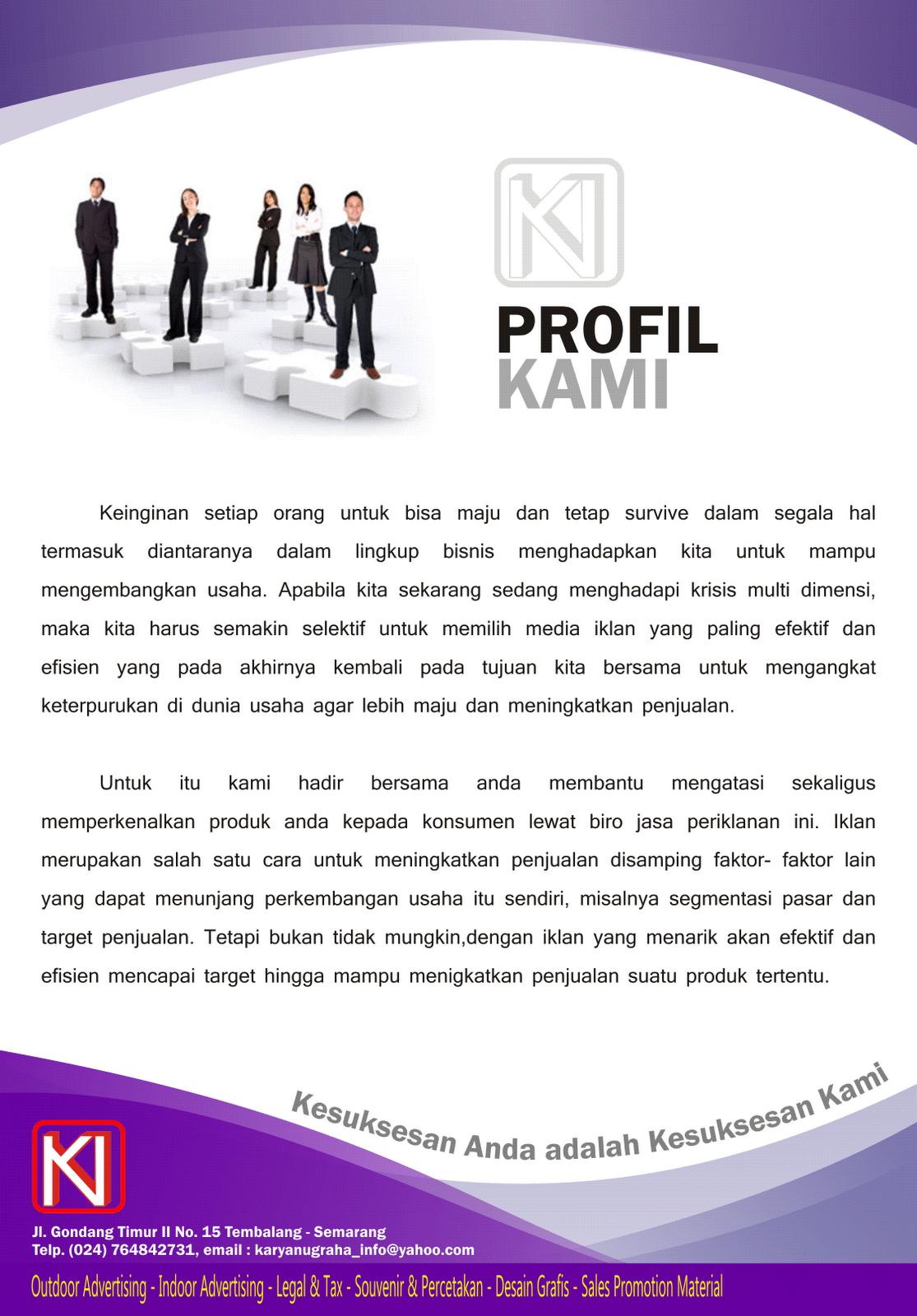 Contoh Company Profile Brajamusti Sangkala