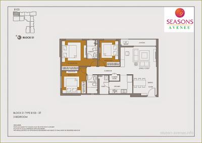 Mặt bằng căn hộ B103