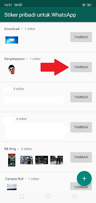 Tambah Sticker WhatsApp