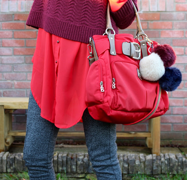 Layering shades of red | Fakefabulous