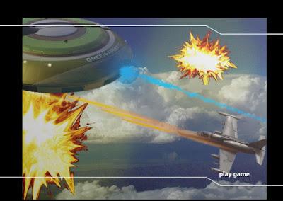 Tampilan awal game pesawat tempur