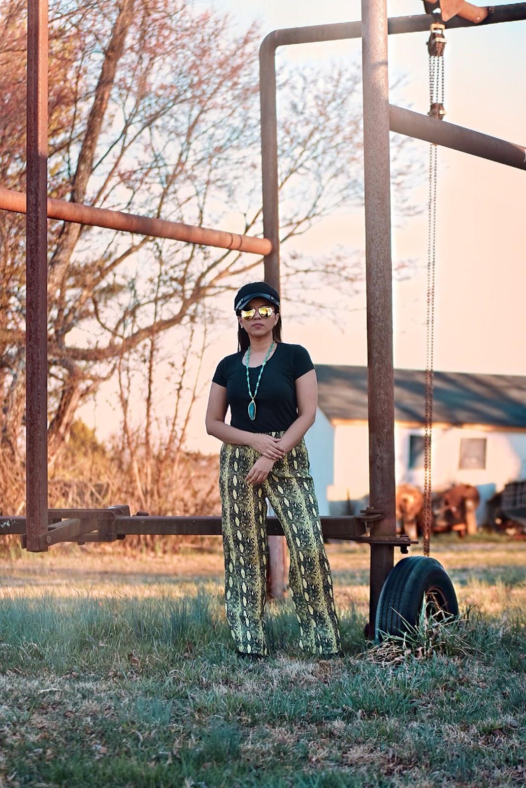 Neon Lime Snakeskin Straight Leg Pants-MariEstilo-SheInFestival-Coachella-festival mood-festival vibes-dcblogger-fashionblogger-snake print-snake print pants-boho chic-