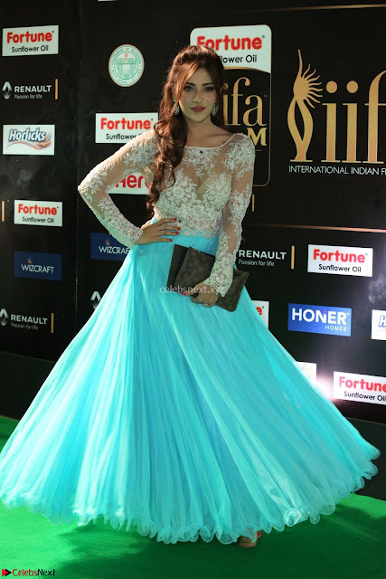 Telugu Actress Angela Krislinzki in transparent top at IIFA Awards 2017 Exclusive 02.JPG