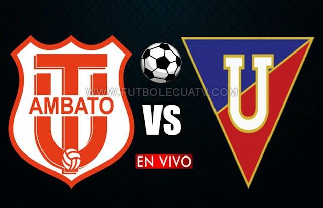 Técnico Universitario y Liga de Quito se enfrentan en vivo 📺 a partir de las 17:15 hora local por la ✅ fecha 23 de la Serie A efectuándose en el Estadio Bellavista de Ambato, siendo el juez principal Vinicio Espinel con emisión del medio oficial GolTV.