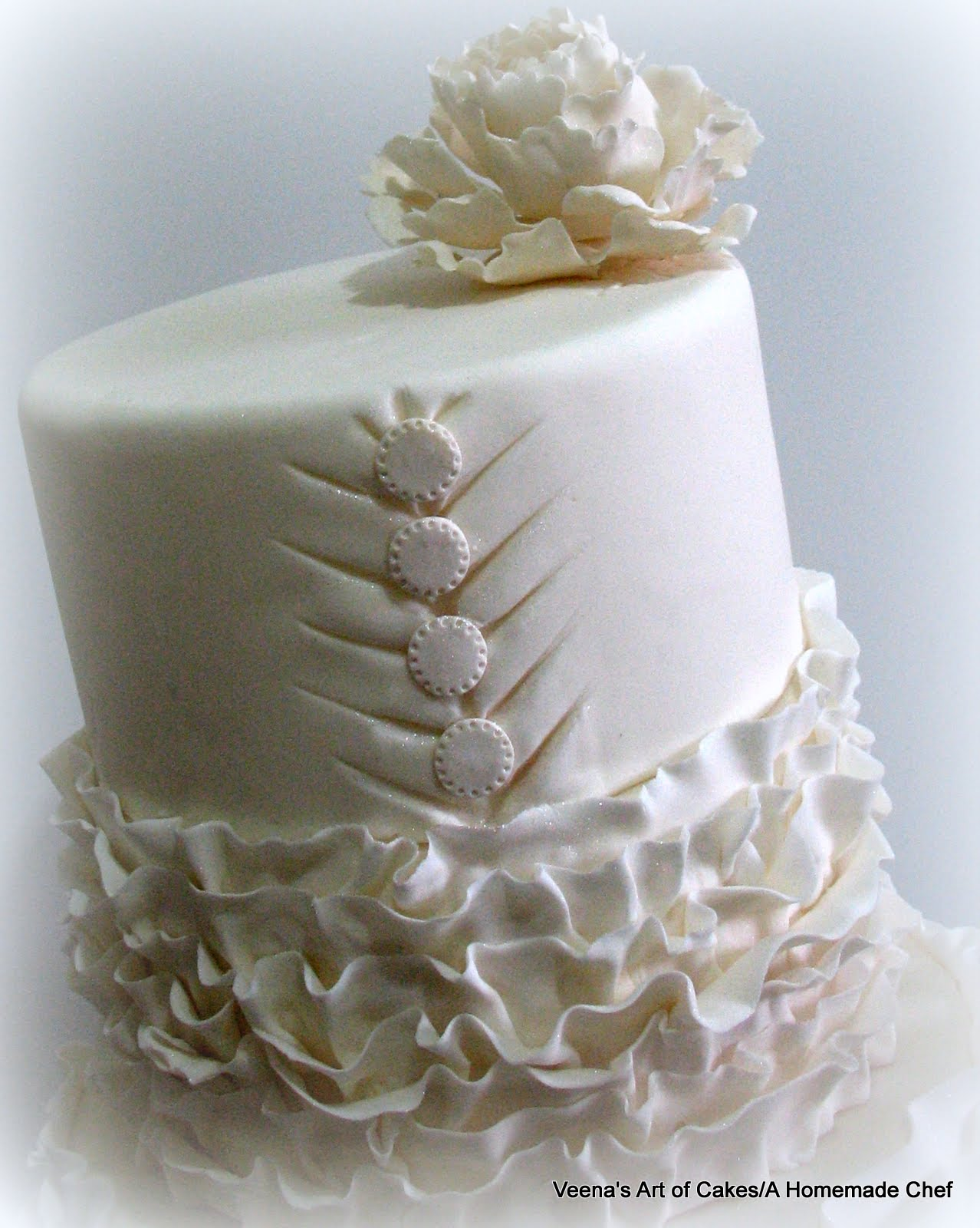 how to make ruffle wedding cake ruffle dress inspired wedding cake veena azmanov 15989