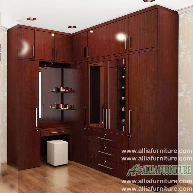 lemari pakaian minimalis model sudut max