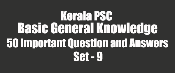 50 Important General Knowledge Question and Answers 09