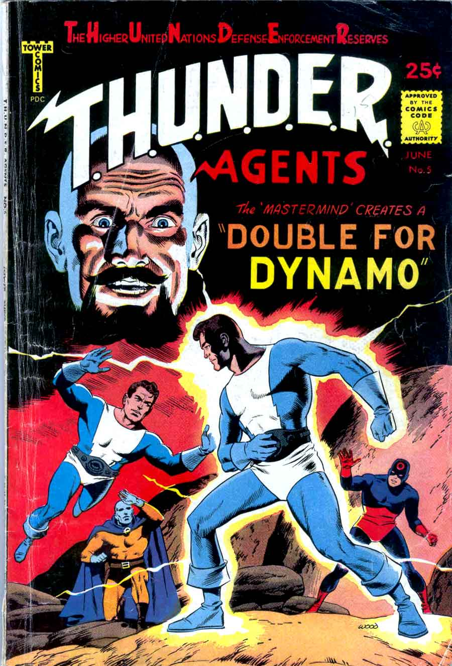 Thunder Agents v1 #5 tower silver age 1960s comic book cover art by Wally Wood