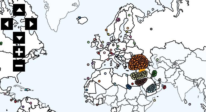 Carte De Lafrique Interactive.Cartographie Numerique Une Data Story Sur Les Flux De Migrations En