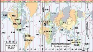 Peta waktu dunia