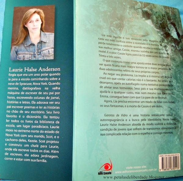 Resenha, livro, Garotas de vidro, Laurie Halse Anderson