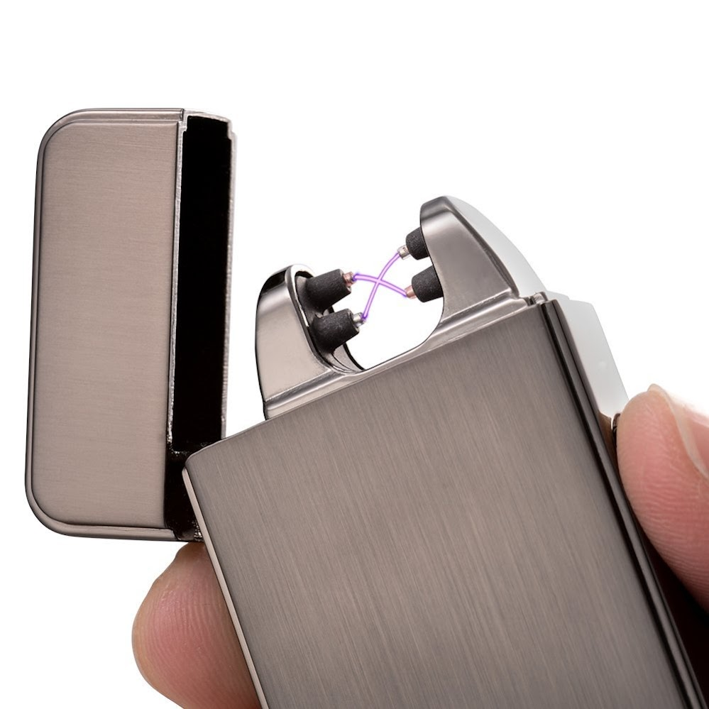 Electric Lighter - Rechargeable, Flameless & Windproof - Plazmatic X Rechargeable USB Lighter (Black Ops Executive)