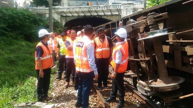 SPAD Gantung Operasi Tren Kargo Tergelincir. #SPAD