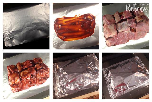 Receta de costillas asadas con salsa barbacoa: preparación