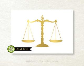 Scales of Justice Print | brazenandbrunette.com