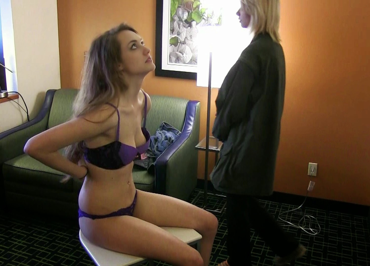 Girl forced to strip