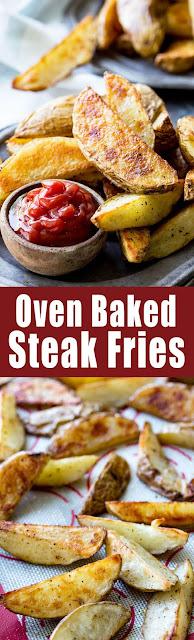 Oven Baked Steak Fries Recipe