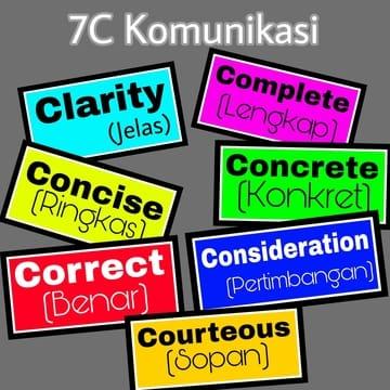 7c Komunikasi Untuk Komunikasi Efektif Catatan Sinine