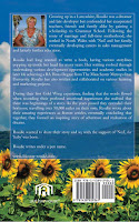picture of author. narratice, sunflowers and blue sky.
