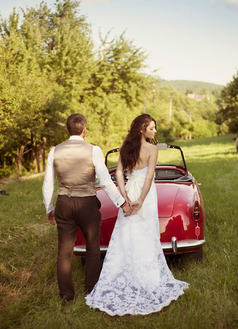 Classic Car Wedding Photography Shoot- Rustic 4 Weddings- Church House Woodworks