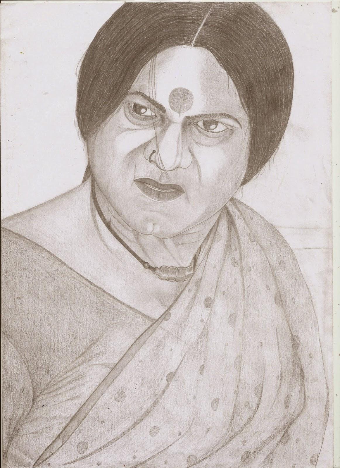 R sarathkumar pencil sketch