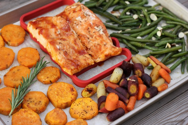 BBQ Salmon Sheet Pan Dinner for Two