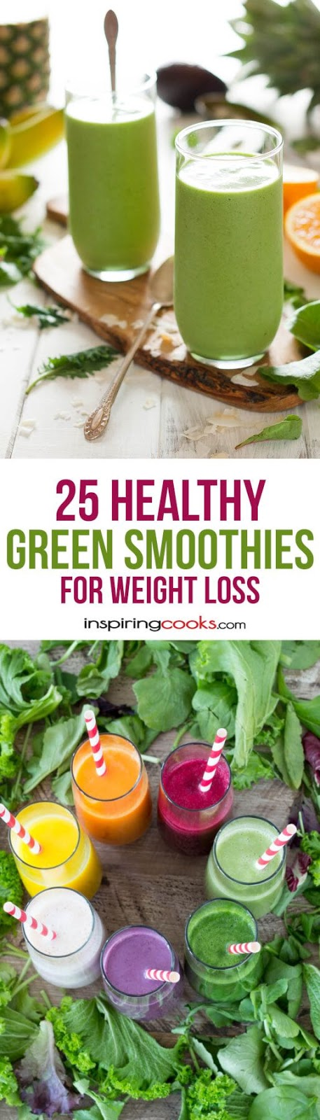 Best 25 Healthy Green Smoothie Recipes for Weight Loss