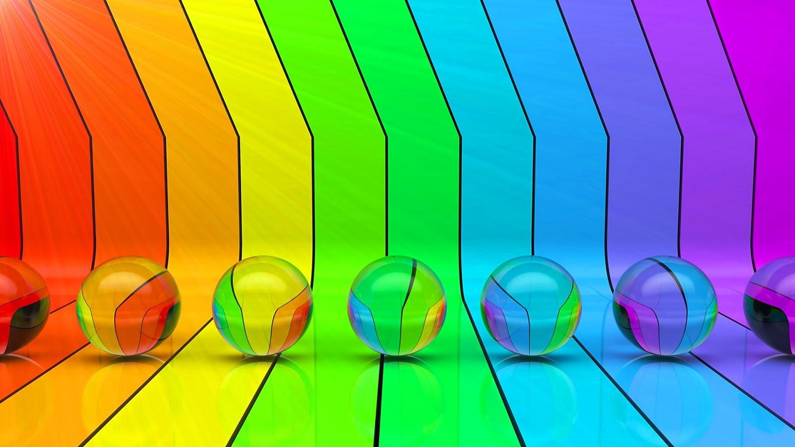 glazen knikkers en regenboog hd wallpapers