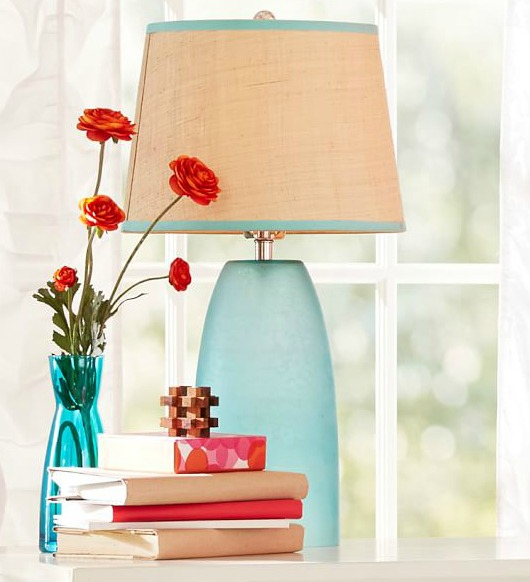 Frosted Seagl Table Lamps Coastal