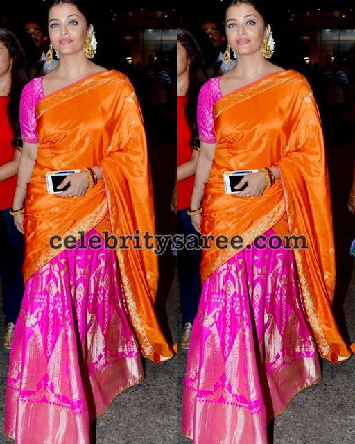 Aishwarya Rai Traditional Half Sari