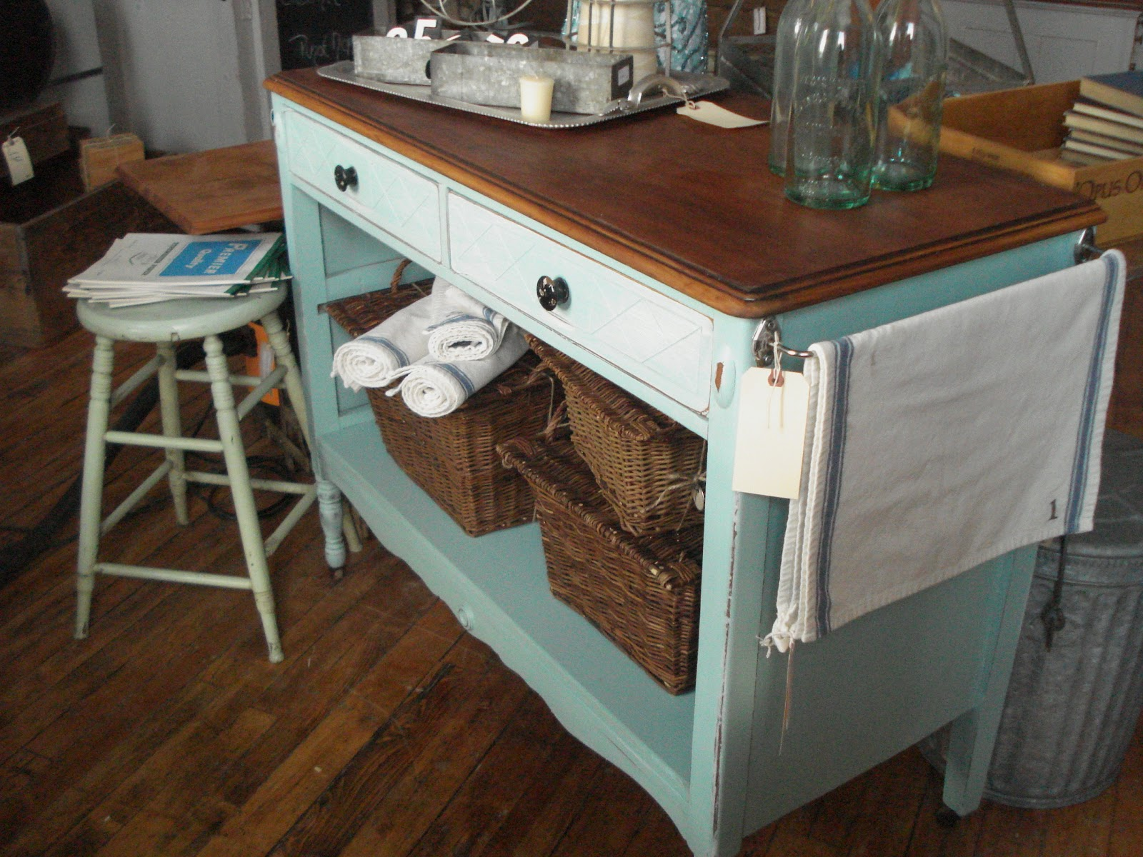 Turn A Dresser Into A Kitchen Island: Cricket Acres Studio: Repurposed Dresser Completed