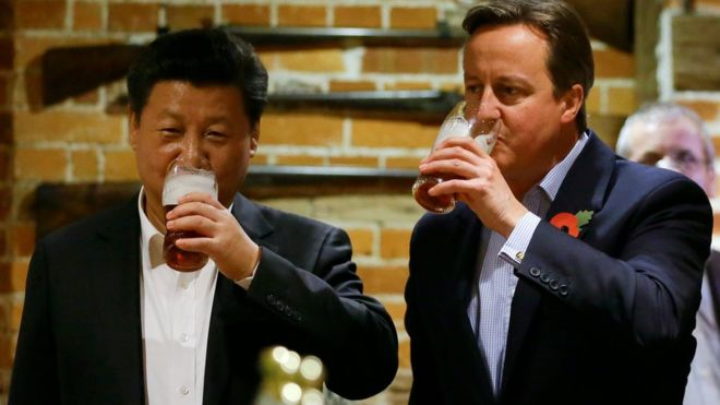 Chinese business chiefs pay £12k for dinner with Cameron