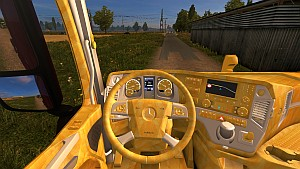 Golden interior for Mercedes MP4