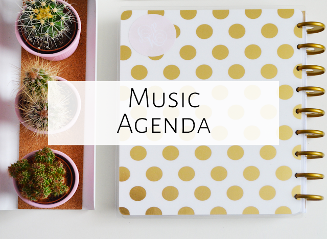 Agenda for music lessons