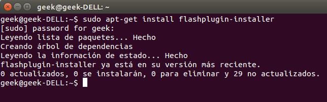 Instalar Flash Player desde la terminal