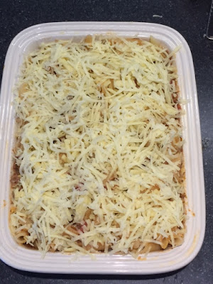 Bolognese Bake with grated cheese on top