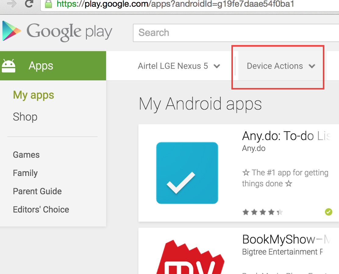 how to find the device name on android