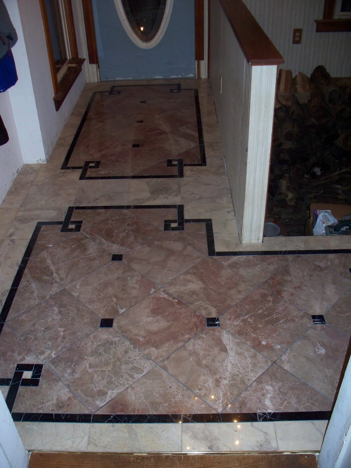 Old Victorian House: Marble Floor Tile - Entryway