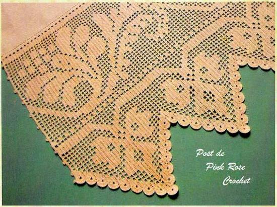 Pink Rose Crochet Barrado Bela Flor Em Croch 234 Fil 234